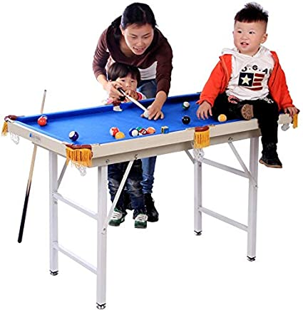 LiPengTaoShop Mini mesas de Billar Mesa De Billar Mesa De Billar Mini-Billar para Niños Mesa De Billar De Juguete Plegable para Padres E Hijos (Color : Blue, Size : 120 * 63 *
