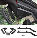 Highitem Newest Hard Top Mount Hardtop Grab Handle Bar Front Rear Interior Parts Metal For Jeep Wrangler jk 2007 Up