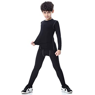 3e26038f9f2c4 Amazon.com: Tesuwel 2/3/4/5 Pcs Boys Girls Athletic Compression ...