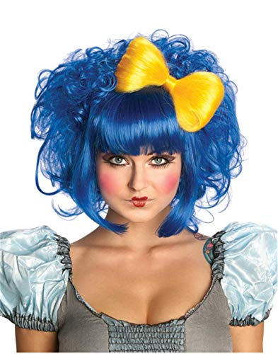 Yellow Clown Wig (Rubie's Cutie Doll Costume Wig, Blue, One)