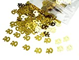 bling table numbers - Gold Number 40 40th Anniversary Or Birthday Table Sequins Confetti for DIY Crafts And Party Supplies 1 Ounce by ZXSWEET