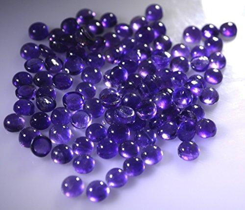 pierres précieuses en vrac améthyste 1 pièces 5 x 5 mm cabochon rond pourpre pierres précieuses