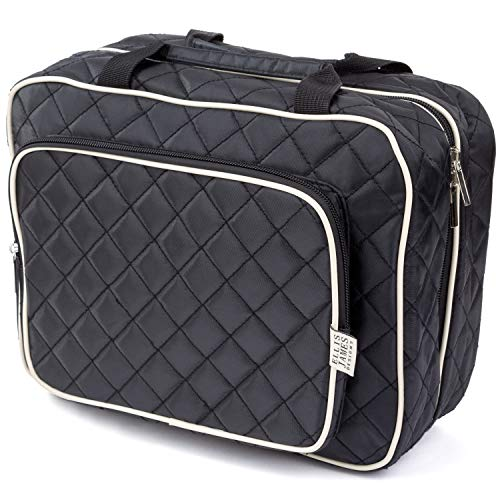 (Ellis James Designs Large Travel Toiletry Bag for Women with Hanging Hook, Black, Big Wash Bags - Hair Dryer Case - Multi-use Toiletries Kit Cosmetics Makeup XL Bathroom Organizer Suitcase Luggage )