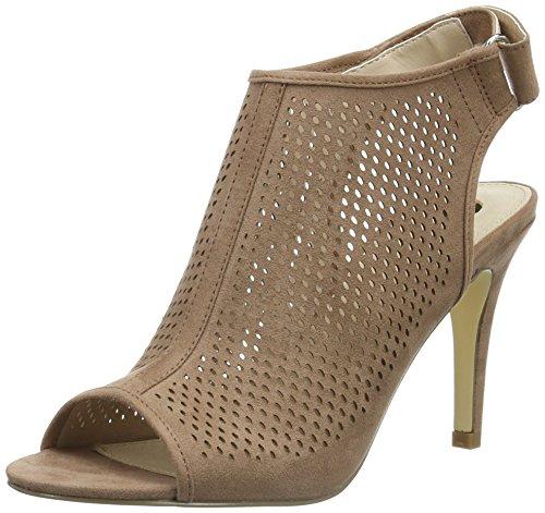 La Strada Naakt Suede Leather Look Sandaal Dames Open Sandalen Beige (2235 - Micro Naakt)