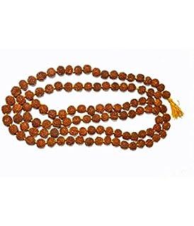 Aadit Crreation Rudraksha Mala for Meditation and Jaap (5 mm)