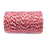 Wrapables Cotton Baker's Twine 12ply 110 Yard, Red
