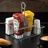 G.E.T. Enterprises 4-21696 8'' 4-Compartment Condiment Caddy, Clipper Mill, Chrome