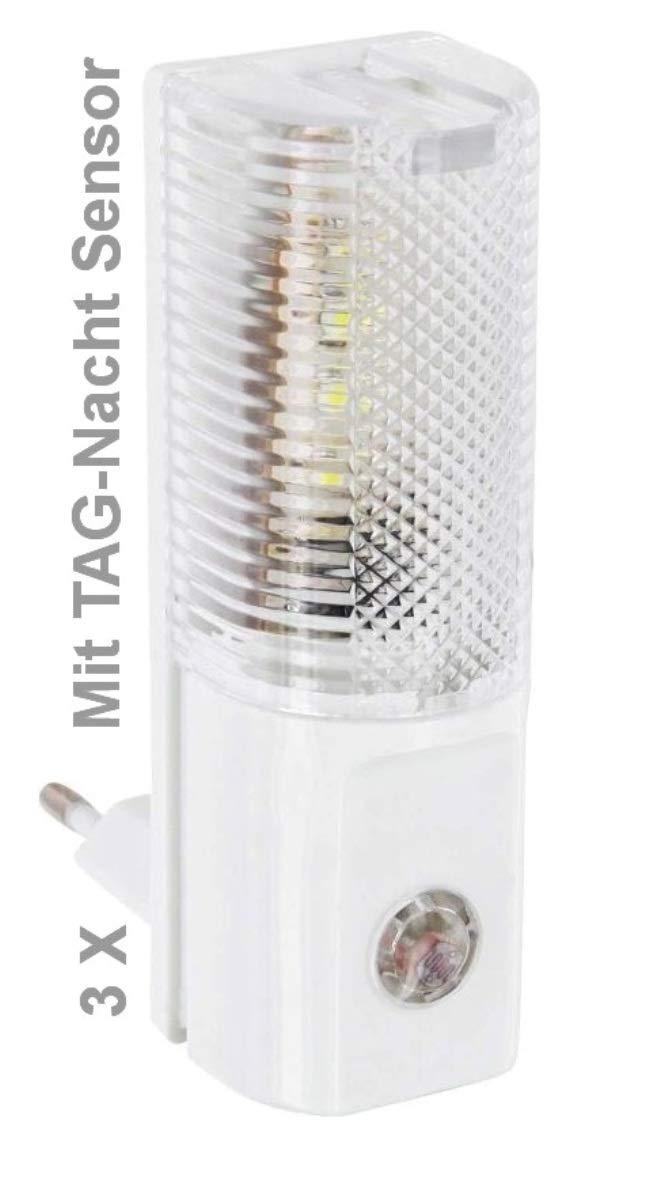 3x TEG99 - sehr sparsames LED Nachtlicht - mit TAG-NACHT-SENSOR … Vertrieb durch TEG