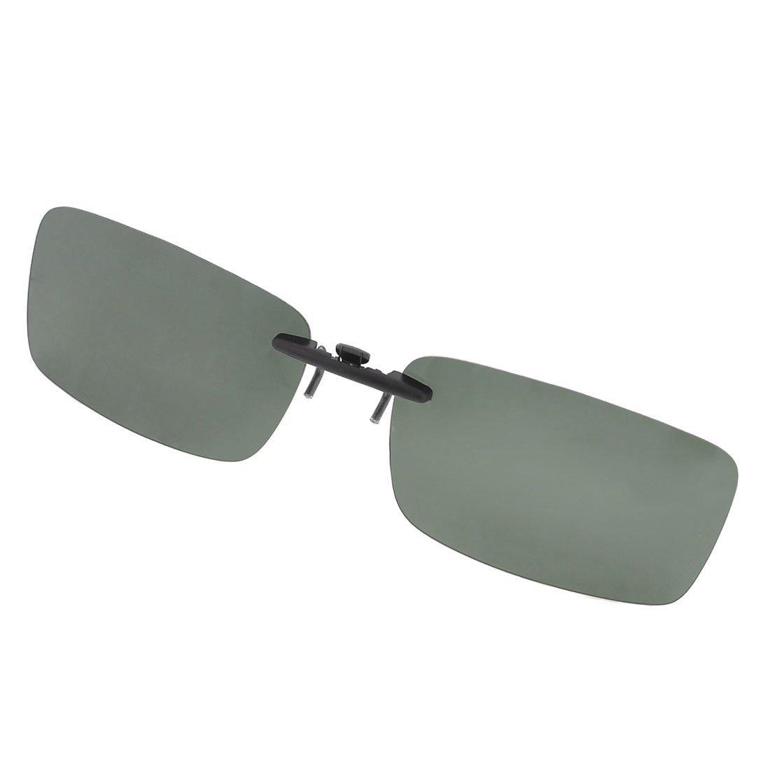 TOOGOO(R) Unisex chiari scuri Verde occhiali da sole polarizzati lente clip su occhiali da vista
