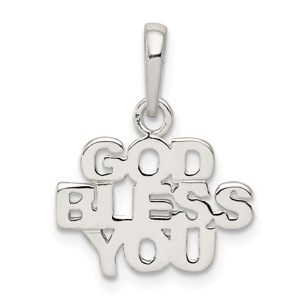 FB Jewels Solid 925 Sterling Silver Polished God Ble925 Sterling Silver You Charm