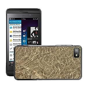 Etui Housse Coque de Protection Cover Rigide pour // M00151512 Fondo de la textura del agua Water // BlackBerry Z10