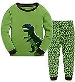 "Babyroom ""Dinosaur""Little boys' Long Sleeve 100% Cotton Pajama Size 2T-10years."
