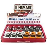 "12 unidades en la caja: 5 ""Range Rover Sport SUV 1:38 escala (negro /naranja /rojo /plata)"