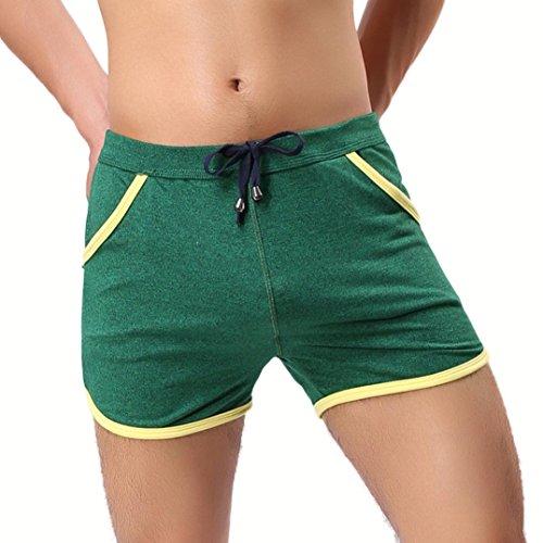 Men Swim Shorts,Lelili Fashion Stripe Drawstring Side Pockets Slim Fit Shorts Gym Sport Jogging Trousers (XL(Asian XL=US M), Gray)