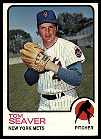 Amazoncom 1973 Topps 350 Tom Seaver New York Mets