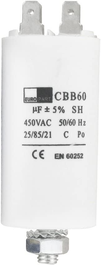 Condensador universal para lavadora con capacitancia 25uF/25mfd, 450V