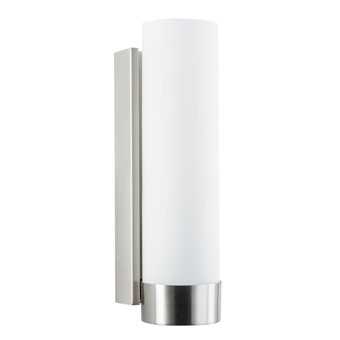 elina bathroom vanity light brushed nickel w frosted shade rh ebay com