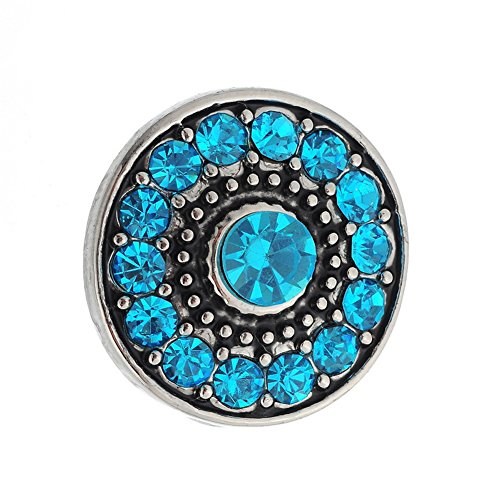 Sunne Rhinestone Flower Interchangeable Jewelry Snap Accessory