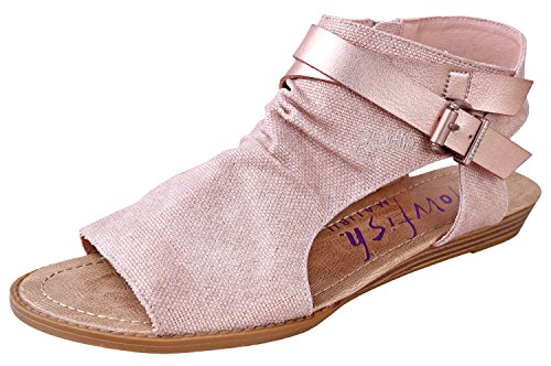 (Blowfish Women's Balla Wedge Sandal (11 B(M) US, Rose Gold Rancher/Rose Gold Pisa Pu))