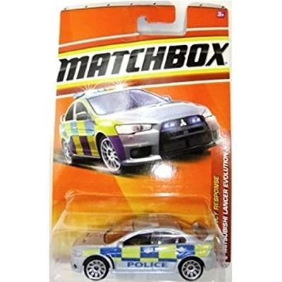 2011 Matchbox Silver MITSUBISHI LANCER EVOLUTION X #57/100 Police Car, Emergency Response #9/11: Toys & Games