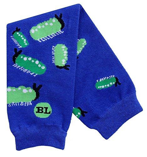 BabyLegs Baby-Boys Infant Slug Bug Leg Warmer, Blue/Green, One Size (Lightweight Mesh) BL12-669