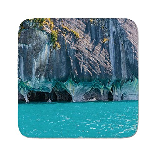 Cozy Seat Protector Pads Cushion Area Rug,Turquoise,Marble Caves of Lake General Carrera Chile South American Natural,Turquoise Purplegrey Green,Easy to Use on Any Surface