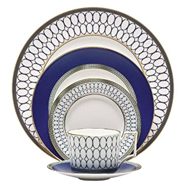Wedgwood 5C10210222 5 Piece Place Setting, Renaissance Gold