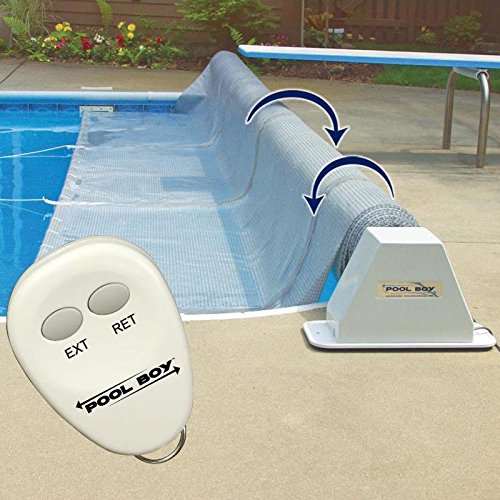 Pool Boy Powered Pool Solar Blanket Reel - Up to 20 Feet Wide Automatic Solar Pool Covers