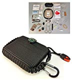 Paracord Grenade Survival EDC Kit (50pc)--Ultimate Wilderness Emergency Disaster Trauma First Aid Box--65 ft Parachute Cord+Bracelet--Mom Feel Safe! Your Kids can get Fire,Food & Shelter when Lost