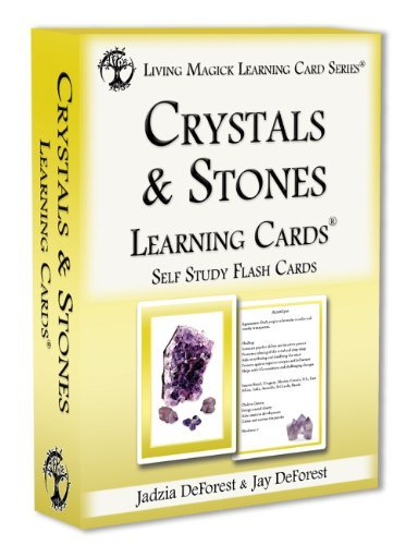 (Crystals & Stones Learning Cards - Living Magick (Self Study Flash Cards))