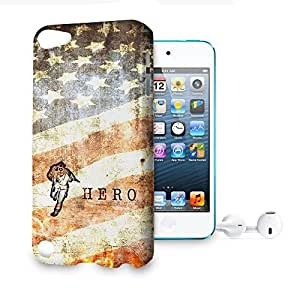 Phone Case For Apple iPod Touch 5 - Firefighter Hero Grunge Glossy Lightweight