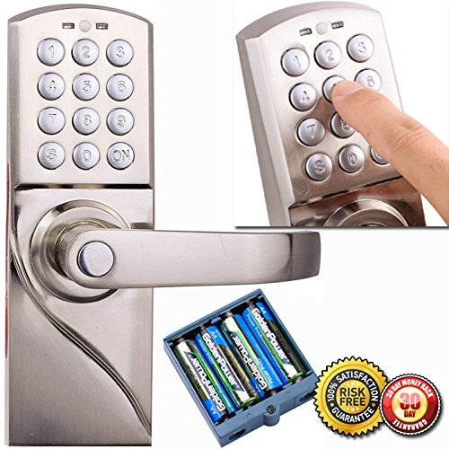 New Digital Electronic/Code Keyless Keypad Security Entry Door Lock Right Handle