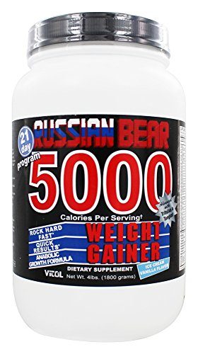 Russian Bear 5000 Gainer Vanil - 4 Pound Powder by Vitol