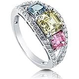 Fashion Women Citrine Aquamarine Pink Sapphire 925 Silver Wedding Ring Size 6-10#by pimchanok shop (6)