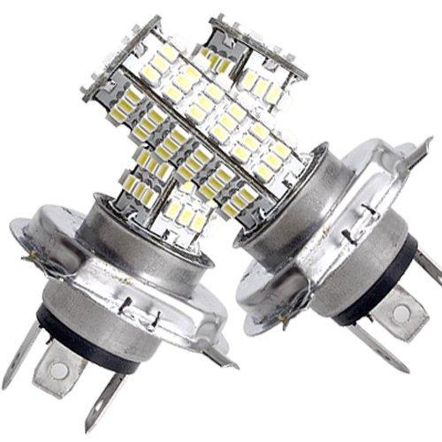 9 opinioni per SODIAL(R) 2 AUTO LAMPADE LAMPADINE LUCI H4 120 SMD CHIPS BIANCO