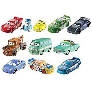 Disney Pixar Cars Die-Cast Mini Racers 10-Pack Vehicles, Miniature Racecar Toys For Racing, Small, Portable, Collectible Automobile Toys Based on Cars Movies, For Kids Age 3 and Up