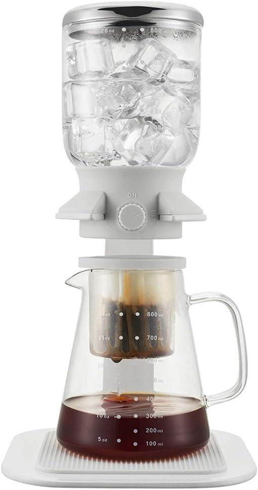 JINRU 5 Tazas de café Helado Pantalla táctil sifón eléctrico Mesa Sifón (Sifón) Cafetera,White: Amazon.es: Hogar