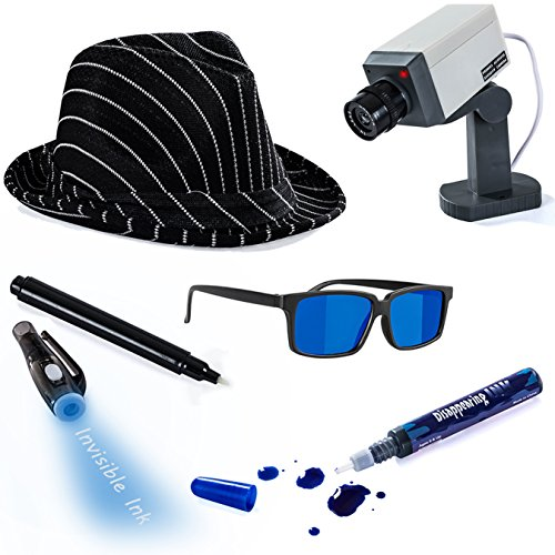 [Detective Costume - 5 Pc. Spy Costume - Spy Costume Accessories by Tigerdoe] (Spy Costume Accessories)