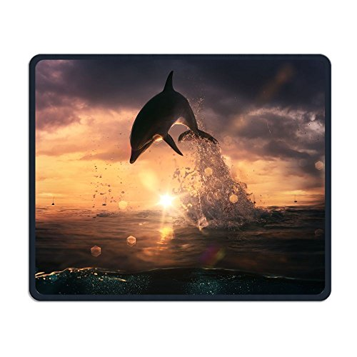 ZhiqianDF Beautiful Dolphin Jumped From The Ocean At The Sunset Time Comfy Mouse PadFoldable Mat - Georgia Sunset Times