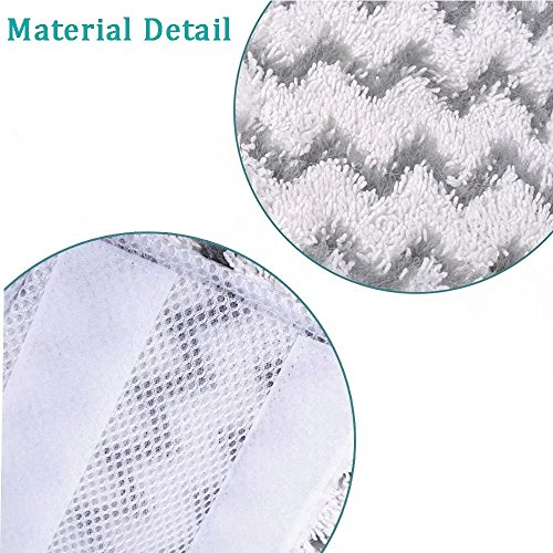 VACFIT Steam Mop Pads for Shark Lift-Away Pro S3973 S5001 S5002 Washable Steam Pocket Mop Compare with Part XTP184 Fit for Shark S5003 S6001 S6002 Replacement 3Pcs by VACFIT (Image #5)