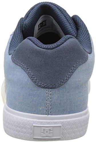 Dc Shoes Chelsea Tx Se, Damen Flach Bleu (navy Wit)