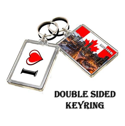 D008 MONTREAL KEYRING I HEART CANADA TRAVEL PHOTO KEYCHAIN
