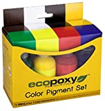 Color Pigment Set (60ml, Red, Yellow, Green, Blue, Black, Brown, White) (