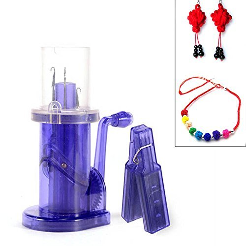 Hand Knitting Machine Plastic Spool Knitter Wool Winder Crafts DIY Bracelet Weave Tools