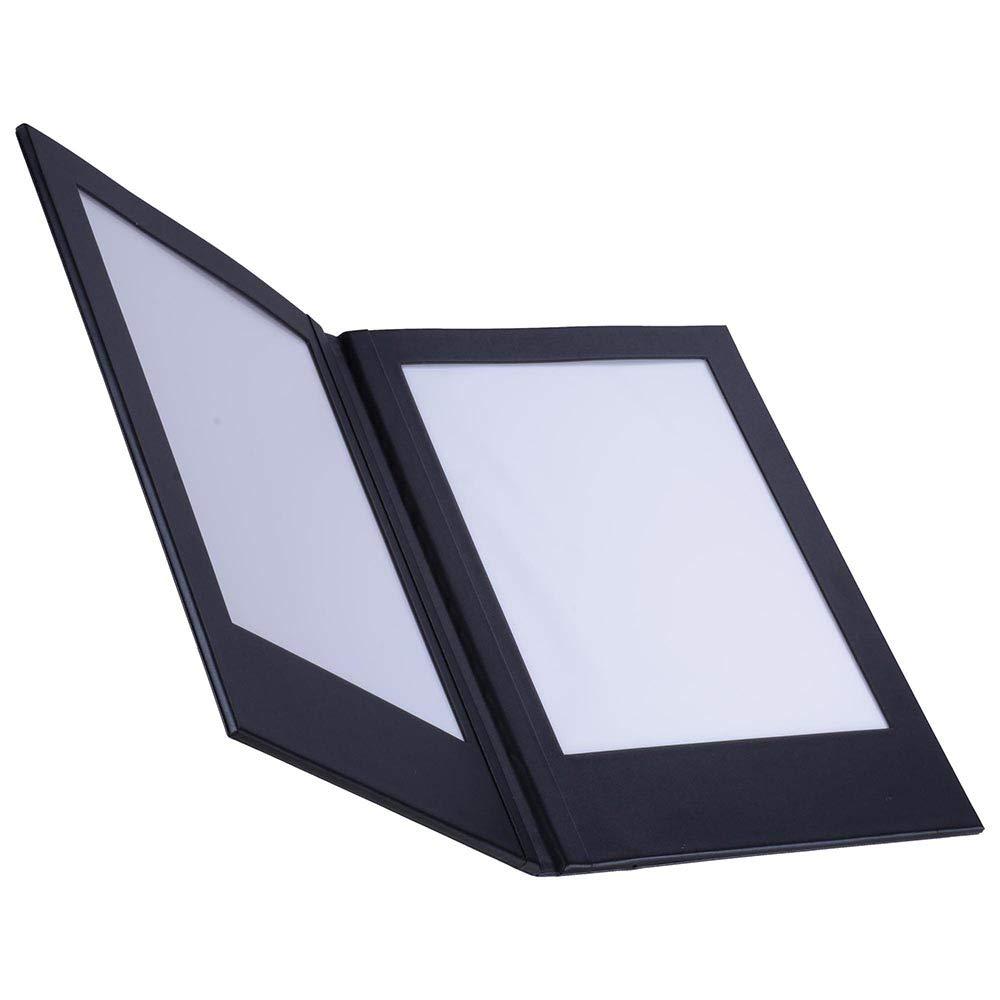 Yescom 8.5x11inches 2-panel LED Backlit Illuminated Black Leatherette Menu Holder//check Displayer