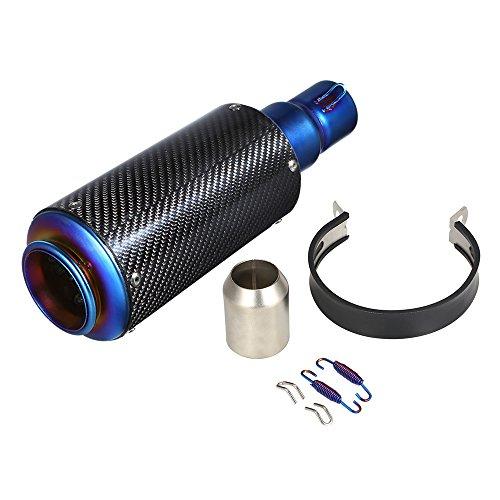 KKmoon Exhaust Silencer Muffler, 38 - 51mm Refit Exhaust Muffler, Universal Exhaust Silencer for Moto ATV: