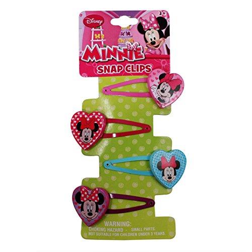 Minnie Mouse Hair Clips (4 Pack) - Disney Hair (Minnie Mouse Hair Clips)