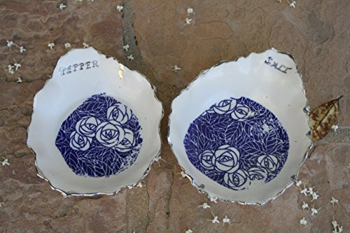 Salt and Pepper Bowl set handmade kitchen pottery (Set Marina Dining)