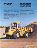 1987 Caterpillar 966E Wheel Loader Brochure