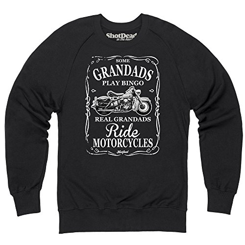 Real Grandads Ride Sudadera de cuello redondo, Para hombre: Amazon.es: Ropa y accesorios